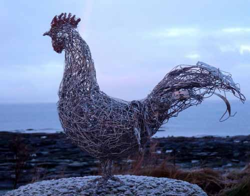 17. Wire cockerel at dawn