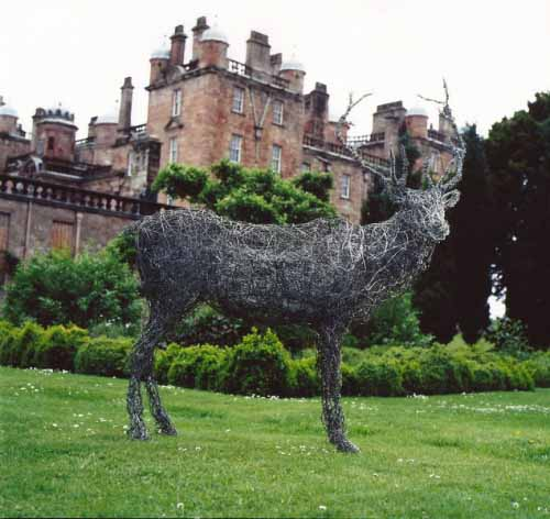 12. Wire stag at Drumlanrig Castle, 1999