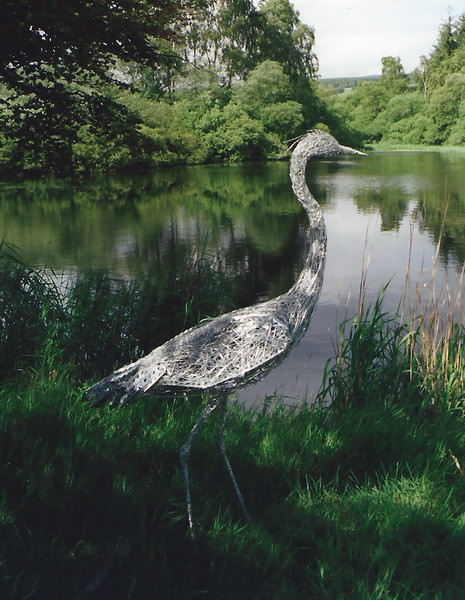 5. Wire heron at Drumlanrig castle