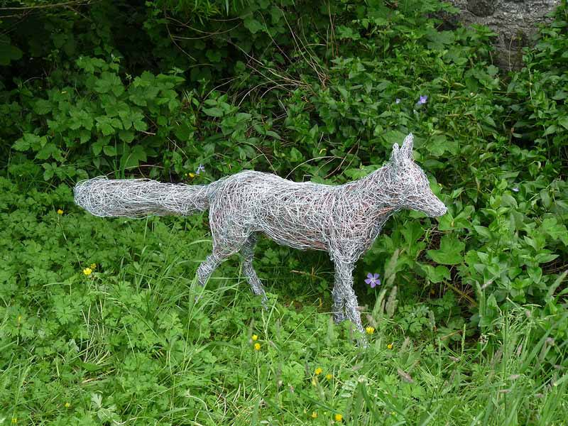 7. Wire fox in the garden