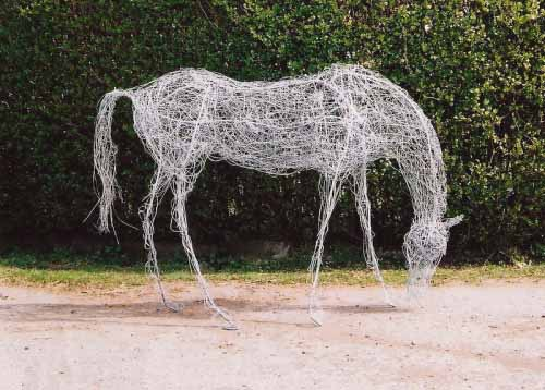12. Contemporary wire horse sculpture for Art in The Square, Glasgow Art Fair ,2004