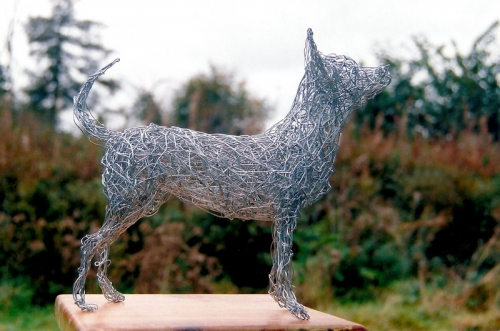 15. Wire sculpture commission Chihuahua 2001
