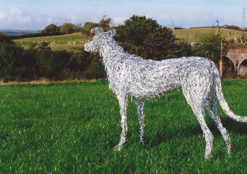 11. Wire sculpture commission 1996, family dog