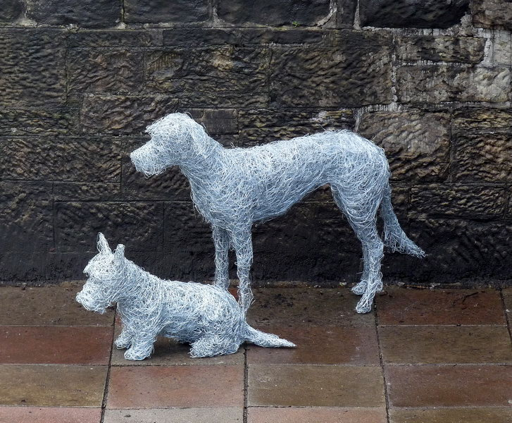 3. Wire dog portraits commissioned by Glenart for their Bravehound initiative