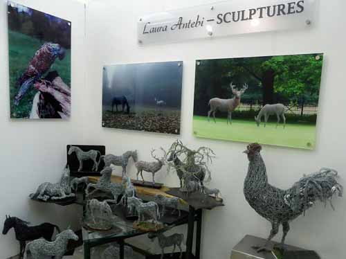 8. A collection of miniature wildlife and equine miniatures on show at Chelsea