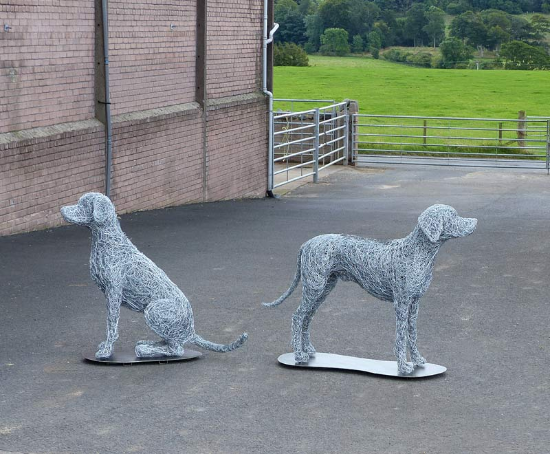 3. Wire Sitting dog available