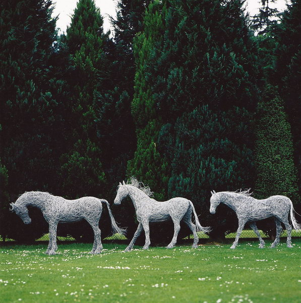 4. Three wire horses at Drumlanrig Castle for the front cover of Home Show magazine