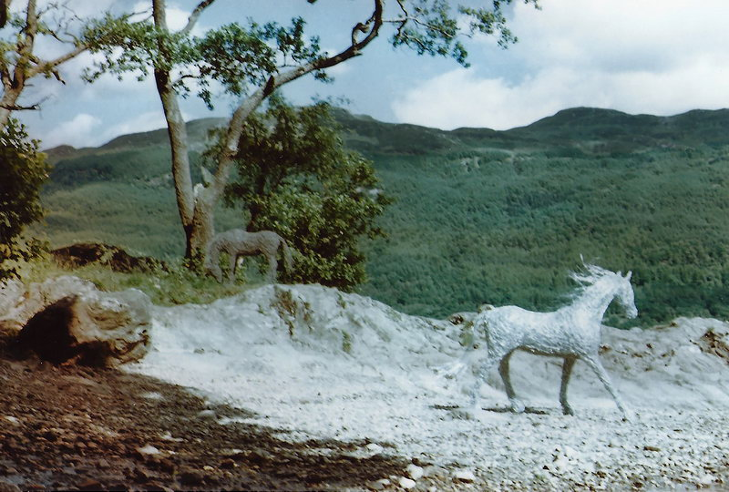 19. Wire horses at Loch Lomond, 1995