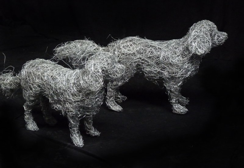 9. King Charles Spaniels life-size sculptures  commissioned portraits