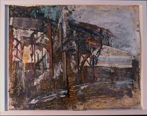 18. M74 Bridge Collage (Mixed media on paper)