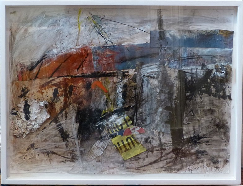 19. M74 Bridge Collage (Mixed media on paper)