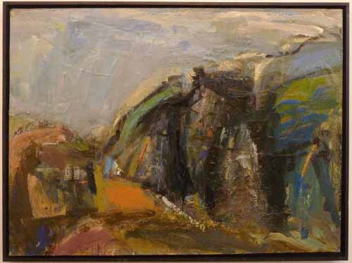28. M74 Bridge Collage (Oil on board)