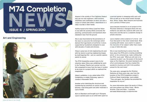 M74 Completion News