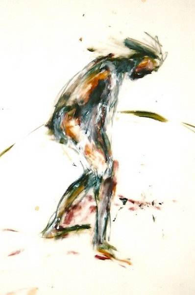 5. figure study (Oil on tracing paper)