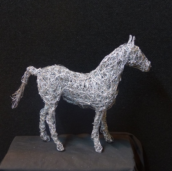 17. 'Liberty Light' miniature wire horse