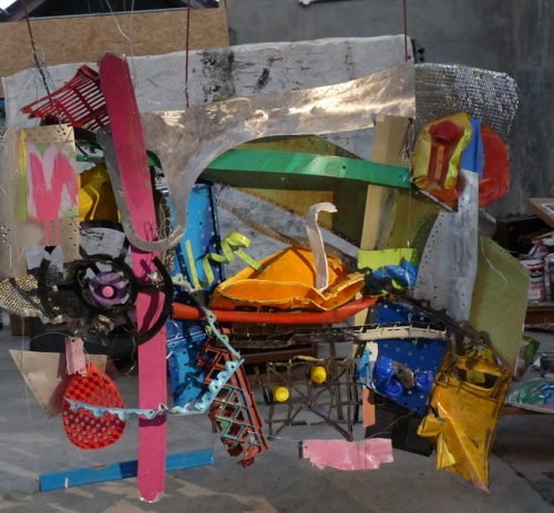 17. Abstract installation in reclaimed plastic and metal, 2013
