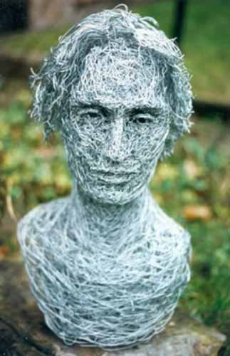 12. Portrait in wire