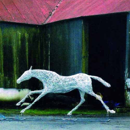 16. Last photo of wire race horse at the studio- on its way to Avon Thoroughbreds, Dorset