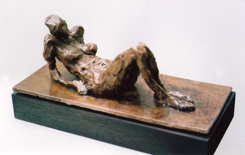 11. Reclining figure (bronze sculpture)
