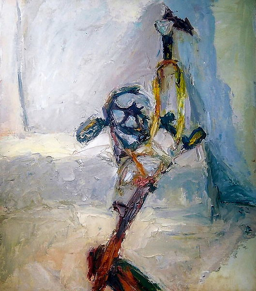 6. Recycling, painting 2006(Oil on board)
