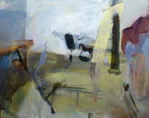 9. horse in the studio, painting (Oil on board)