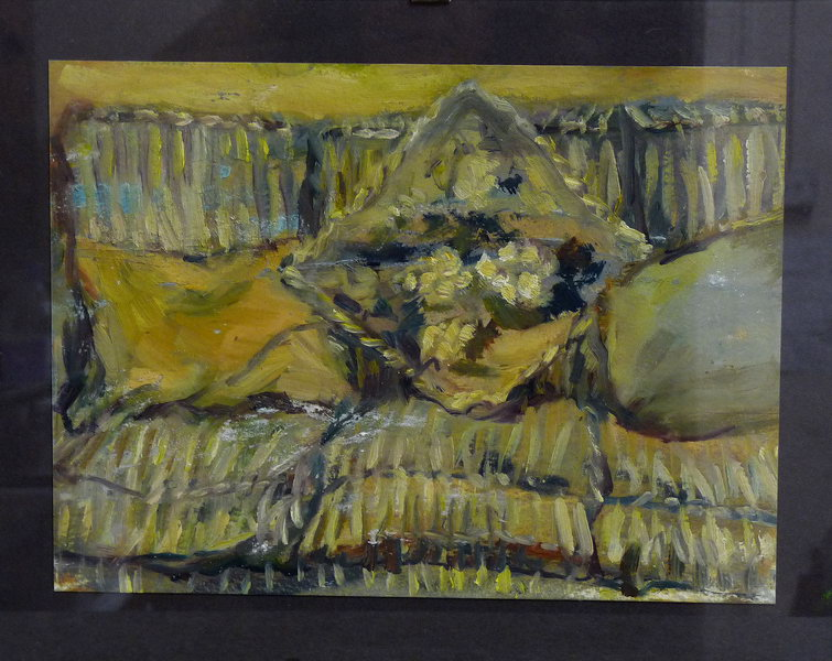 14. The sofa, painting 2005 (Oil on paper)
