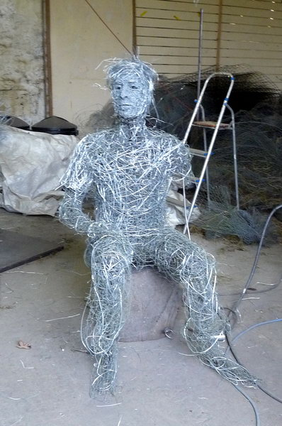 7. Wire seated figure developments
