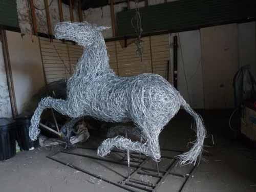 41. War Horse sculpture- a work  in progress 2013