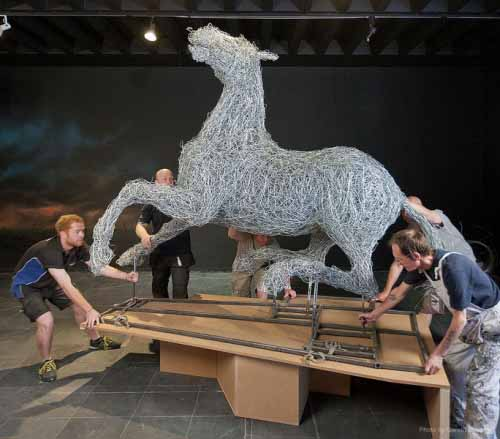 War Horse arrival and installation