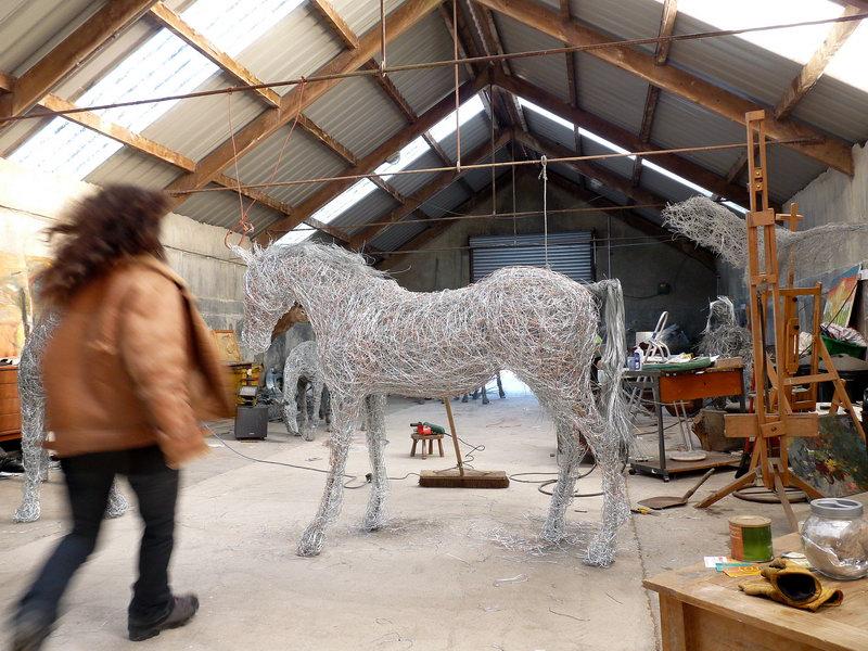 Winter in the wire studio