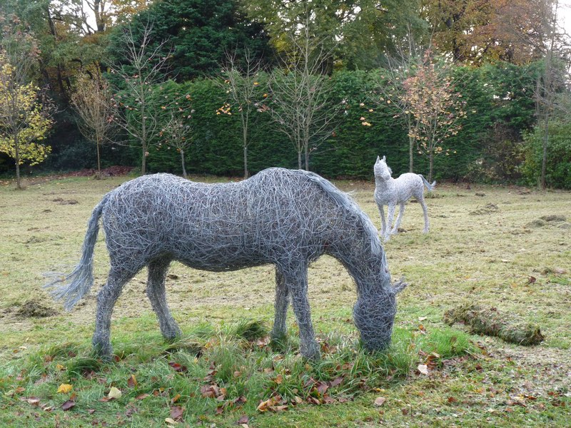88. Horse sculptures at home, Wales.