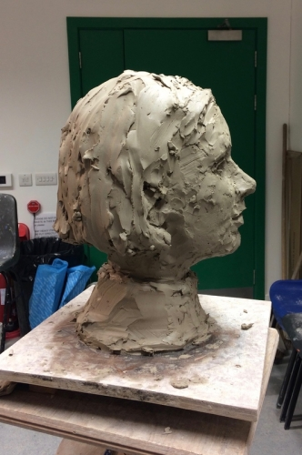 15. Portrait in clay, profile