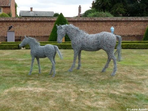 63. mare and foal sculptures at Doddington Hall