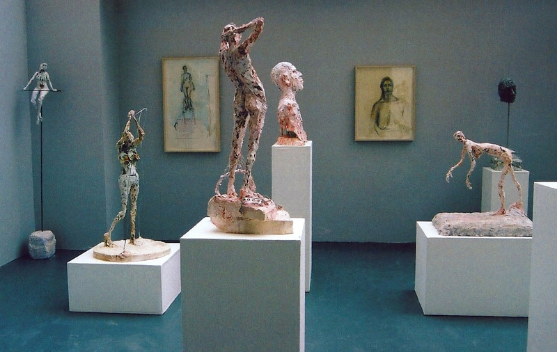 10. Body of work, 3Dand 2D sculpture on show,2003(plaster,steel and recycled materials)