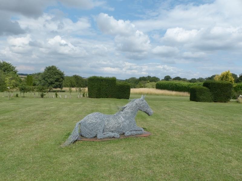88. 'Home Boy' horse sculpture , galvanised steel wire.