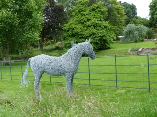 50. Horse in the meadow, horse sculpture private commission 2016