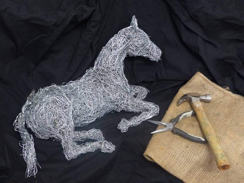 10. Wire horse taking a break