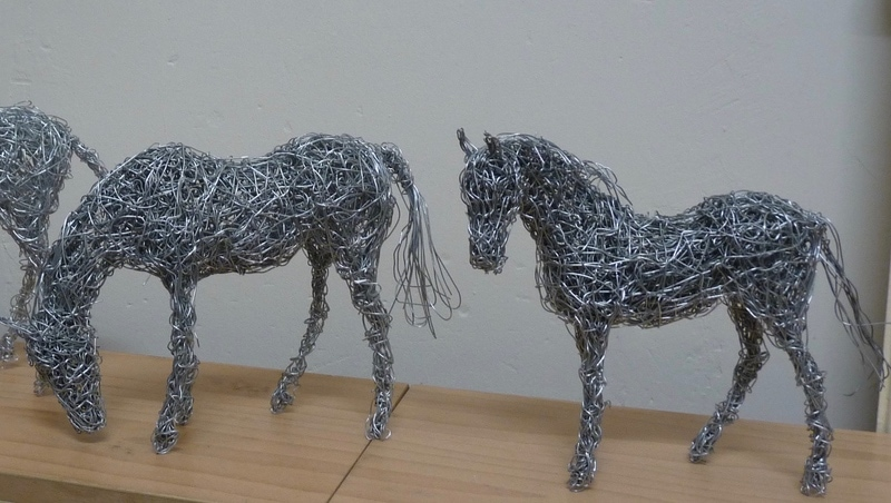 18. close up of wire horse miniatures