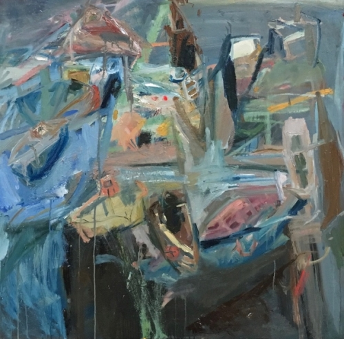 32. Still life with boats. Oil on canvas