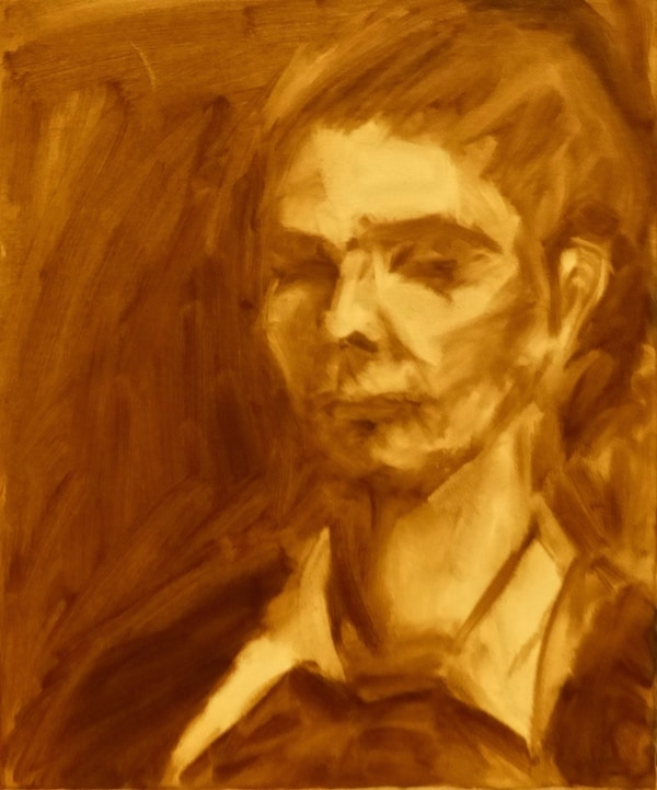 13. Underpainting , oil on canvas