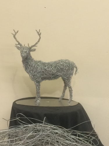 21. Wire stag miniature