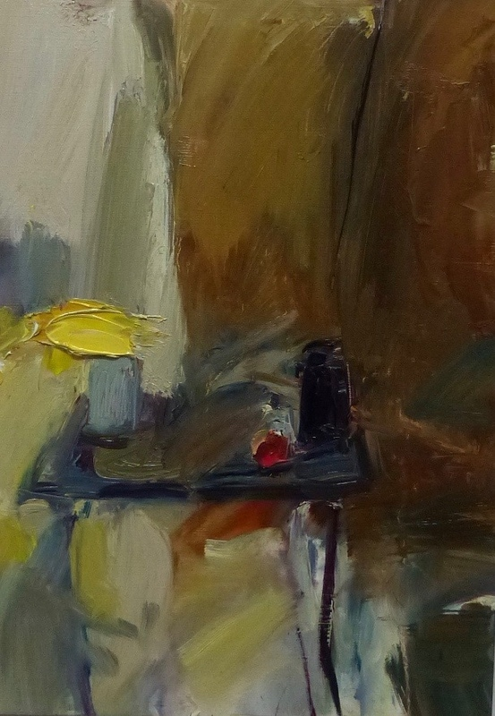 18. still-life with yellow, oil on paper
