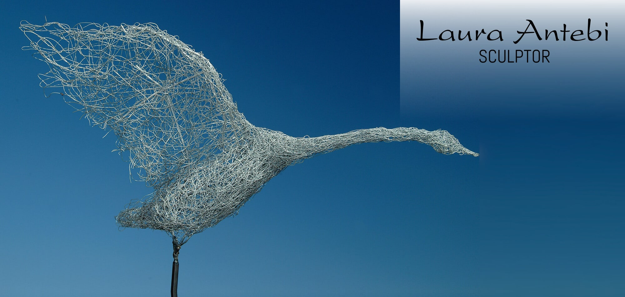 Wire Goose Sculpture